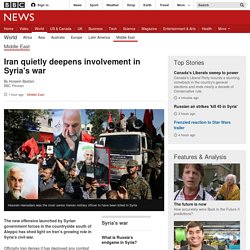 Iran quietly deepens involvement in Syria's war 20.10 BBC