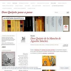 Don Quijote de la Mancha de Agustín Sánchez