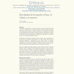 Don Quijote de la mancha: el loco, el villano y el carnaval – Critica.cl