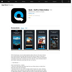 Quik - GoPro Video Editor on the AppStore