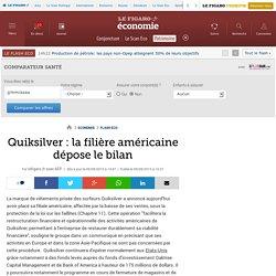 Quiksilver : la filière américaine dépose le bilan