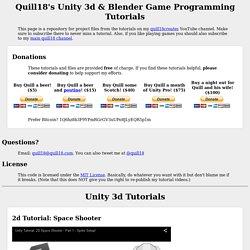 s Unity 3d & Blender Programming Tutorials