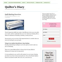 Quilt Batting Overview