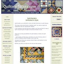 Quilt Borders add the Right Finishing Touch