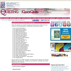 How to Quilt eBooks - Free Quilting Pattern eBooks