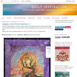 Quilt Inspiration: February 2016