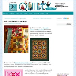 Free Quilt Pattern: It's a Wrap