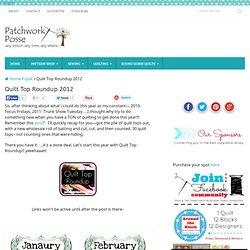 Quilt Top Roundup 2012 « patchwork crafts, quilt patterns for beginners, tutorials, free patterns