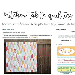 Kitchen Table Quilting: striped chevrons quilt top (and tutorial)