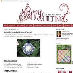 Happy Quilting: Quilted Christmas Ball Ornament Tutorial