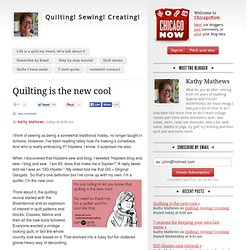 Quilting! Sewing! Creating!