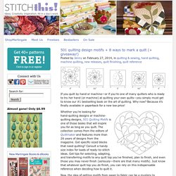 501 quilting design motifs + 8 ways to mark a quilt (+ giveaway!) - Stitch This! The Martingale Blog