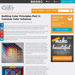 Quilting Ideas: Quilting Color Principles Part 3