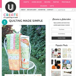 Quilting Made Simple - UCreate