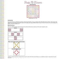 Hugs & Kisses (w/30's Repro Fabrics) Baby Quilt Pattern