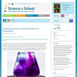Química de colores: reacciones redox con chupachups