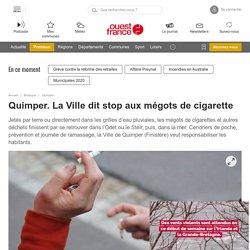 Quimper. La Ville dit stop aux mégots de cigarette