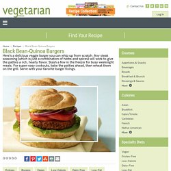 Black Bean-Quinoa Burgers Recipe