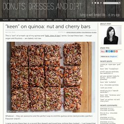 quinoa nut and cherry bars