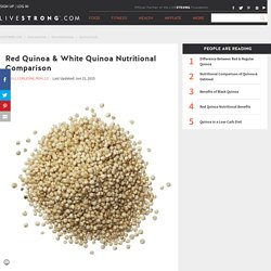 Red Quinoa & White Quinoa Nutritional Comparison