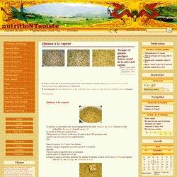 Quinoa à la vapeur - [nutritioNTaoiste]