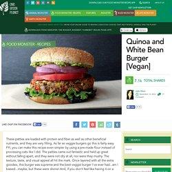 Quinoa and White Bean Burger