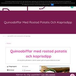 Quinoabiffar med rostad potatis och kaprisdipp