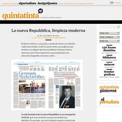 Quintatinta | Diseño gráfico y periodismo, y cómo se diseñan las noticias // Graphic design and Journalism, and how news are designed