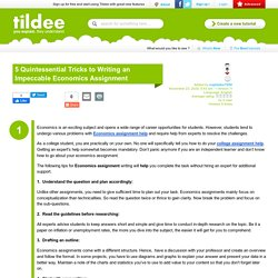 5 Quintessential Tricks to Writing an Impeccable Economics Assignment on Tildee