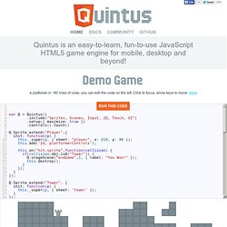 Quintus JavaScript HTML5 Game Engine