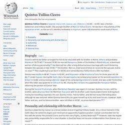 Quintus Tullius Cicero