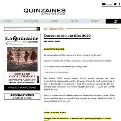 Quinzaines - Concours de nouvelles 2020