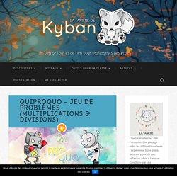 QuiProQuo - jeu de problèmes (multiplications & divisions) - La tanière de Kyban