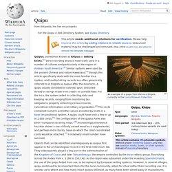 Quipu - Wikipedia