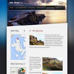 Le Quiraing Promenade sur l'île de Skye en Ecosse
