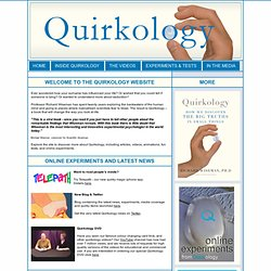 Welcome to Quirkology