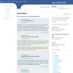 QuirksBlog