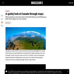 A quirky look at Canada through maps