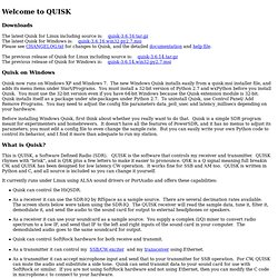 QUISK, A Software Defined Radio (SDR)