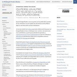 QuiteRSS, un autre lecteur de flux RSS multiplateforme