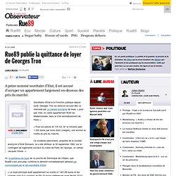 publie la quittance de loyer de Georges Tron