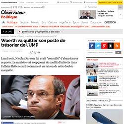 Woerth annonce qu'il va quitter son poste de trésorier de l'UMP - Politique