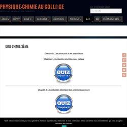 Quiz chimie 3ème - Physique-Chimie au Collège