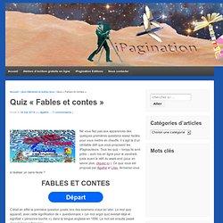 """quiz """"Fables et contes"""""""