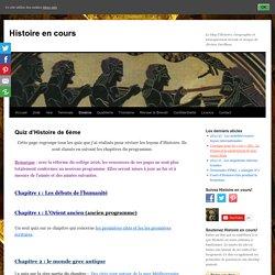 Quiz d'Histoire de 6ème