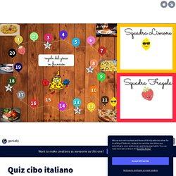 Quiz cibo italiano par Prof. Vincent sur Genially