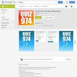 QUIZ 974 (île de la Réunion) - Android Apps on Google Play