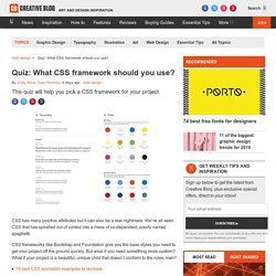 Quiz: What CSS framework should you use?