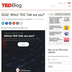 QUIZ: Which TED Talk are you?