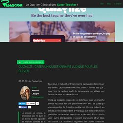 Quizalize : créer un questionnaire ludique pour les élèves - Padagogie